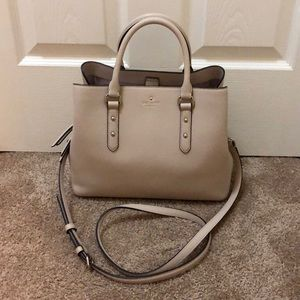 Kate Spade small beige satchel bag